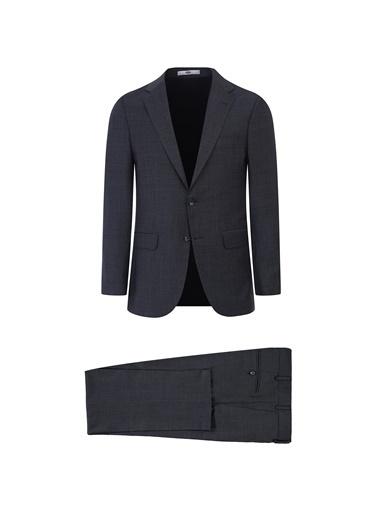 Kiğılı Yünlü Klasik Takım Elbise Siyah